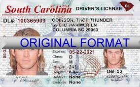 South Carolina Fake ID Template Small
