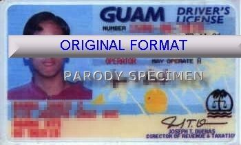 novelty id, novelty id card, driver license novelty GUAM  card, new identity software design custom
