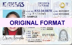 kansas fake id scannable with holograms id card