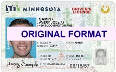 MINNESOTA DRIVER LICENSE ORIGINAL FORMAT, DESIGN SPECIFICATIONS, NOVELTY SECURITY CARD PROFILES, IDENTITY, NEW SOFTWARE ID SOFTWARE MINNESOTA driver