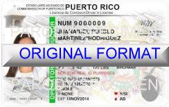 PUERTO RICO FAKE IDS PUERTO RICO SCANNABLE FAKE ID CARDS WITH HOLOGRAMS