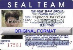PROFESSIONAL SEAL TEAM ID, NOVELTY ID DESIGN CARD SOFTWARE SOUVENIR NOVELTY NEW IDENTITY CARD